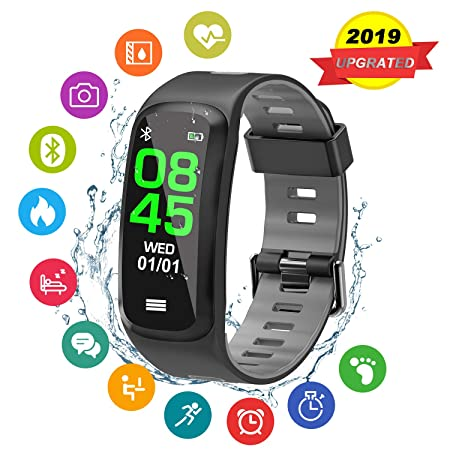 CicoYinG Fitness Tracker, Fitness Activity Tracker Watch with Heart Rate Monitor,Color Screen Smart Watchs,Sleep Monitor,Step Calorie Counter,Waterproof Pedometer Watch Smart for Android and iOS