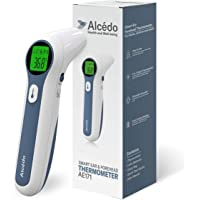 Alcedo Forehead and Ear Thermometer for Adults, Kids, and Baby | Digital Infrared Thermometer for Fever | Touchless, Instant Read, Medical Grade | Pouch and Batteries Included