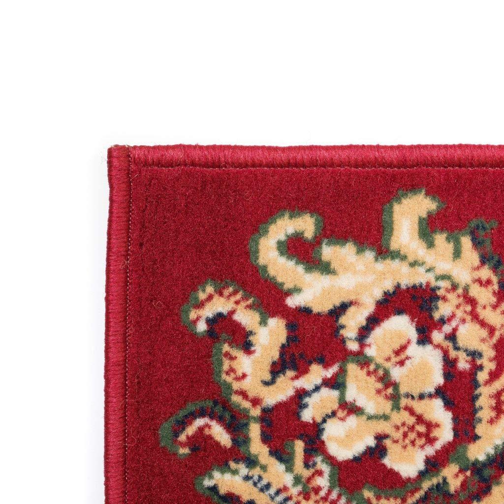 vidaXL Tappeto Orientale Stile Persiano 80x150cm Rosso//Beige Passatoia Stuoia
