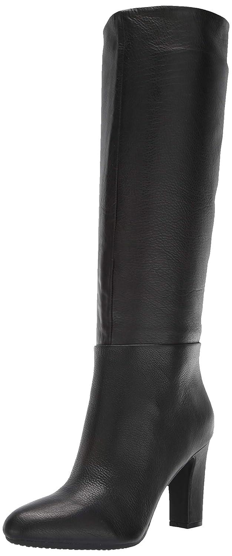 Black Leather Aerosoles Womens Hashtag Knee High Boot