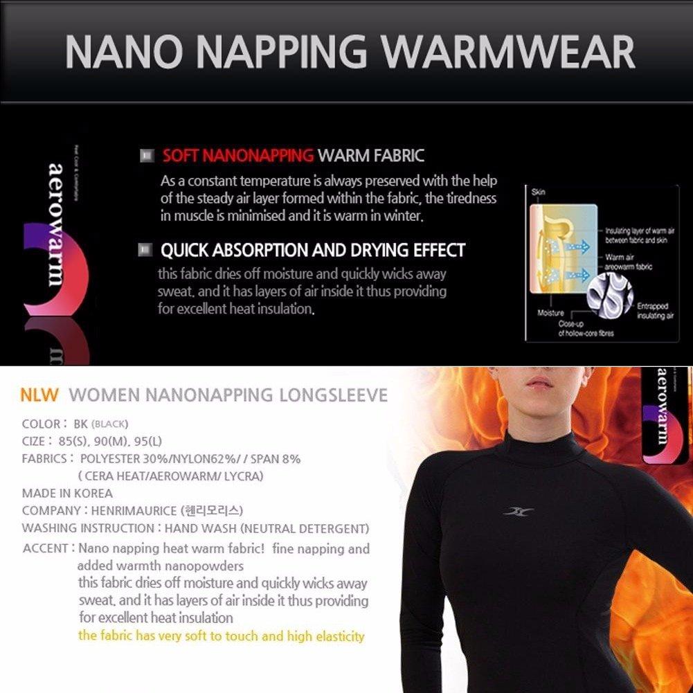Camiseta manga larga térmica con cuello alto para mujer, con capa de compresión, de tela nano tecnológica: Amazon.es: Ropa y accesorios