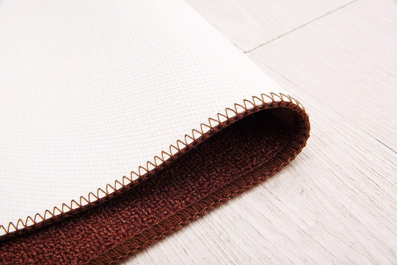 2 Pieces Soft Non-Slip Kitchen Mat Rubber Backing Floor Doormat Area Runner Rug Set,Chef 15x23+19x47