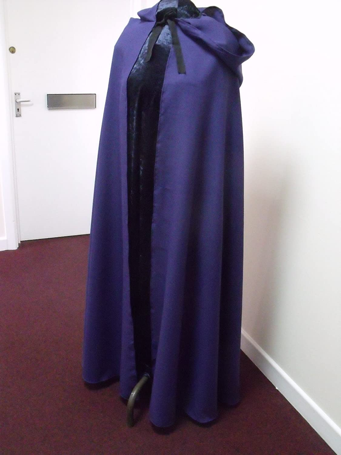 Purple Polyester Twill Adult Cloak - Legoslas/Frodo/Lord Of The Rings/LOTR/Pirate/Arwen/Pagan/Halloween by Merlins Medieval Closet
