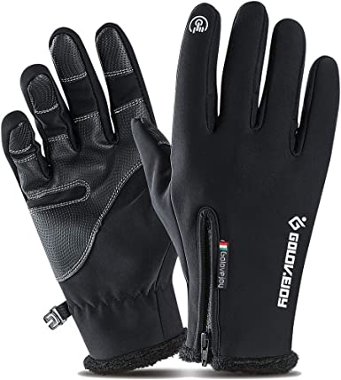 Black, XL Driving Gloves for Men and Women Winter Gloves Touch Screen Gloves Outdoor Cycling