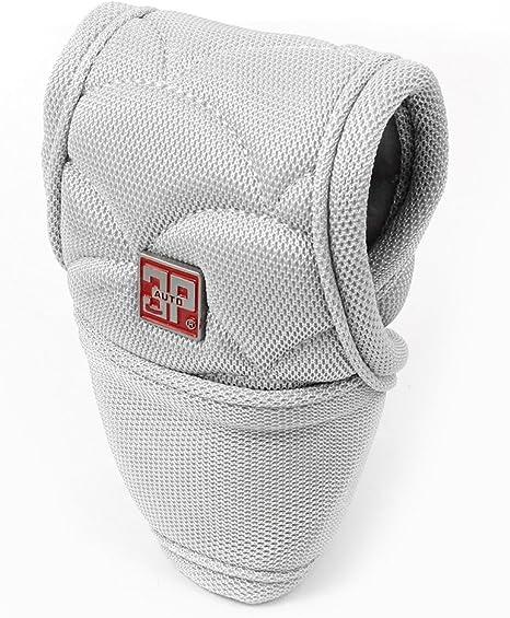 Grau Nylon Bezug Schalthebel Schaltknauf Abdeckung Schalthebel Schutz Für Auto De Baumarkt