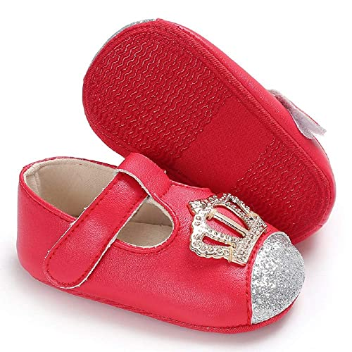 ee3441cf8947f Meckior Infant Baby Girls Mary Jane Soft Sole PU Leather No-Slip Princess  Dress First Walkers Shoes
