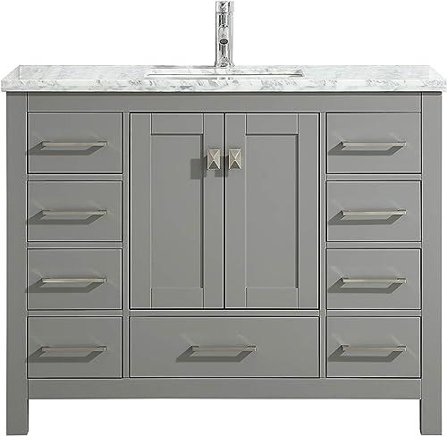 Eviva London 48 x 18 inch Gray Transitional Bathroom Vanity