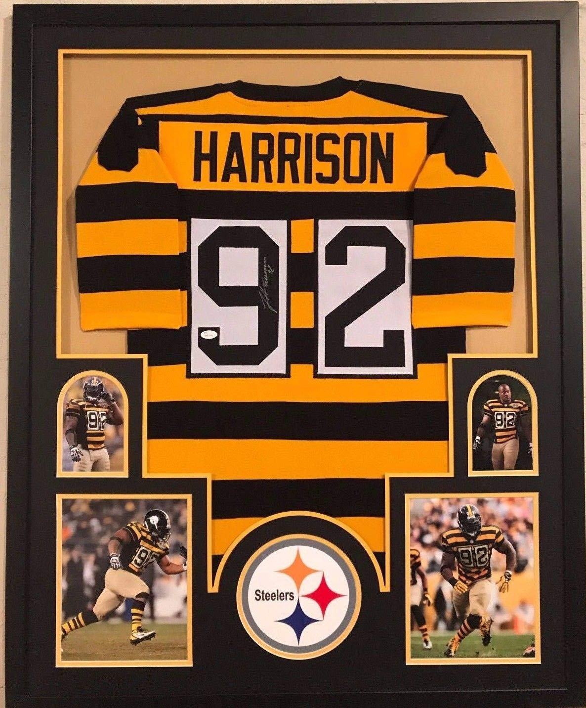 on sale ac23b 5c1f8 FRAMED JAMES HARRISON AUTOGRAPHED SIGNED PITTSBURGH STEELERS ...