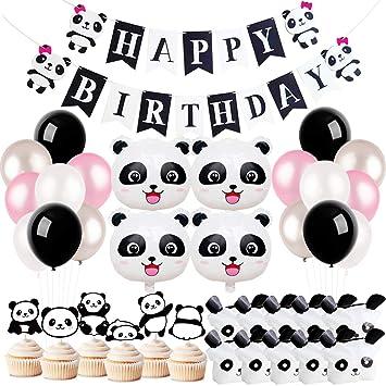 KREATWOW Panda Decoraciones para Fiestas Suministros Bolso de cumpleaños para niñas Bolsas de Regalos para Panda Bear Cumpleaños Baby Shower