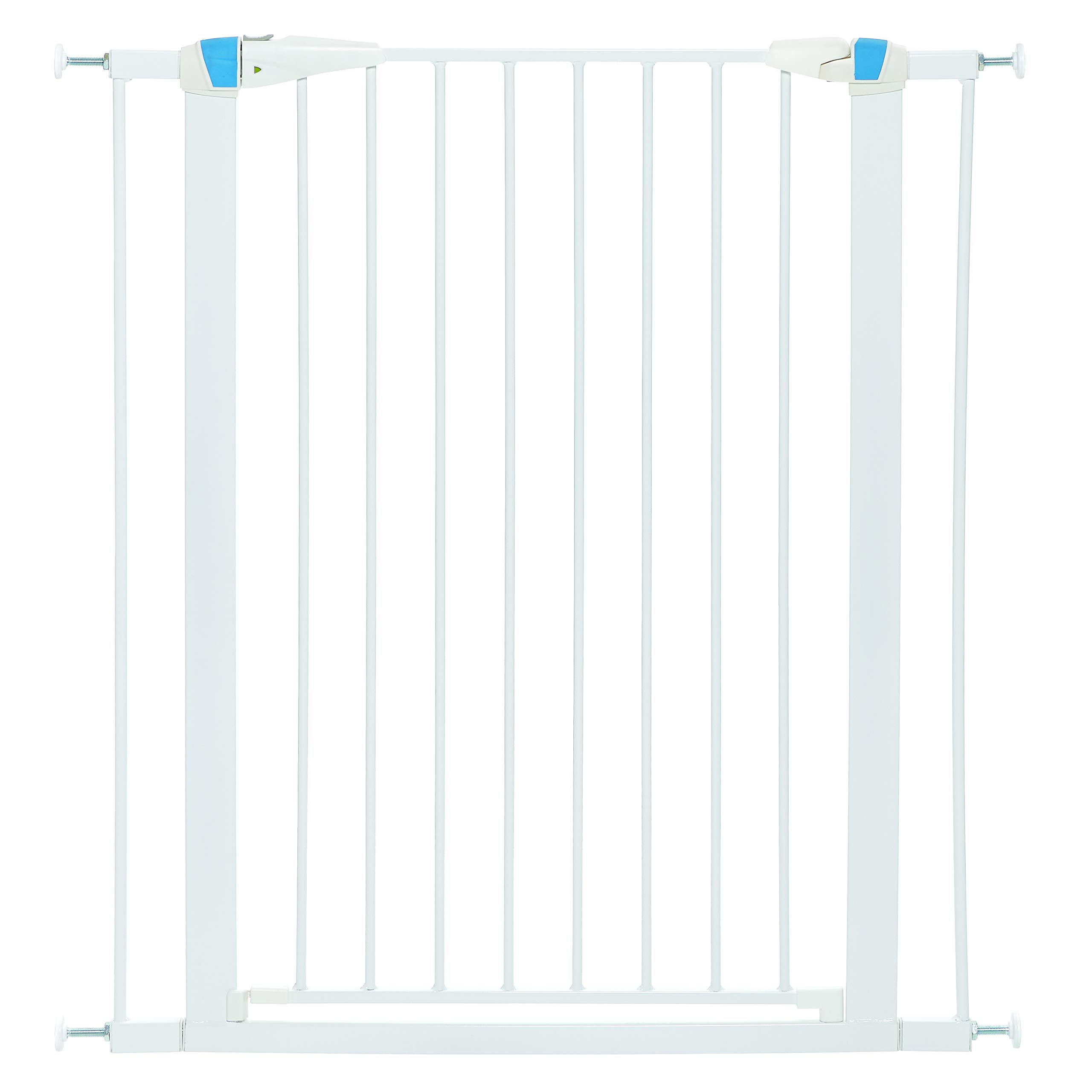 Pet Gate | 39'' High Walk-thru Steel Pet Gate by 29'' to 38'' Wide in Soft White w/ Glow Frame, X-Tall by MidWest Homes for Pets