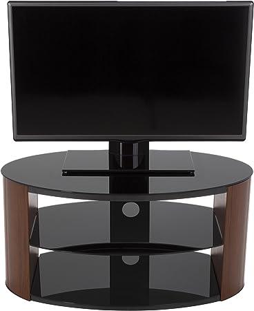 AVF Reed Ovalada Cristal TV Soporte para televisores de hasta 40, color nogal y negro: Amazon.es: Electrónica