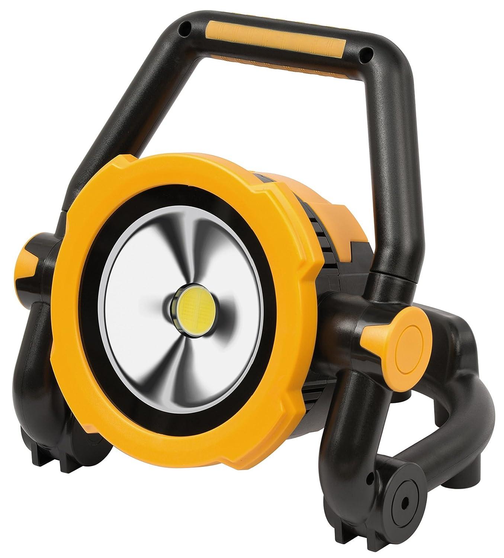 Brennenstuhl Mobile Akku LED-Leuchte / LED Strahler mit Akku (Auß enleuchte 20 Watt, Baustrahler IP54, Fluter Tageslicht) schwarz/gelb 1171420