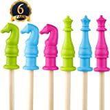 SUBANG 6 Pcs FDA-approved Ultra Silicone Chewable Pencil Toppers, Therapy Toys, Chewy Tubes, Fidgets, Oral Motor Chew