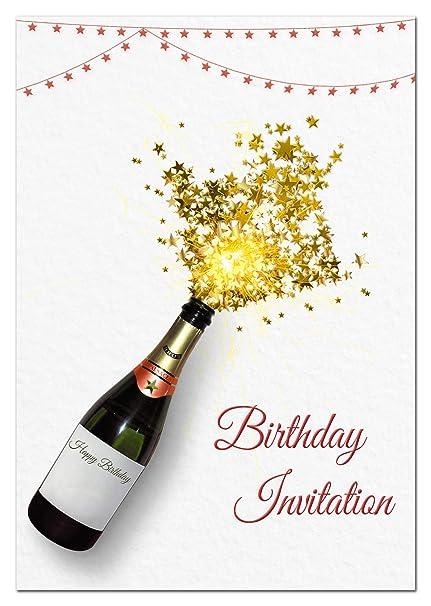 Paquete Barato Invitaciones De Cumpleaños Adultos Hombres