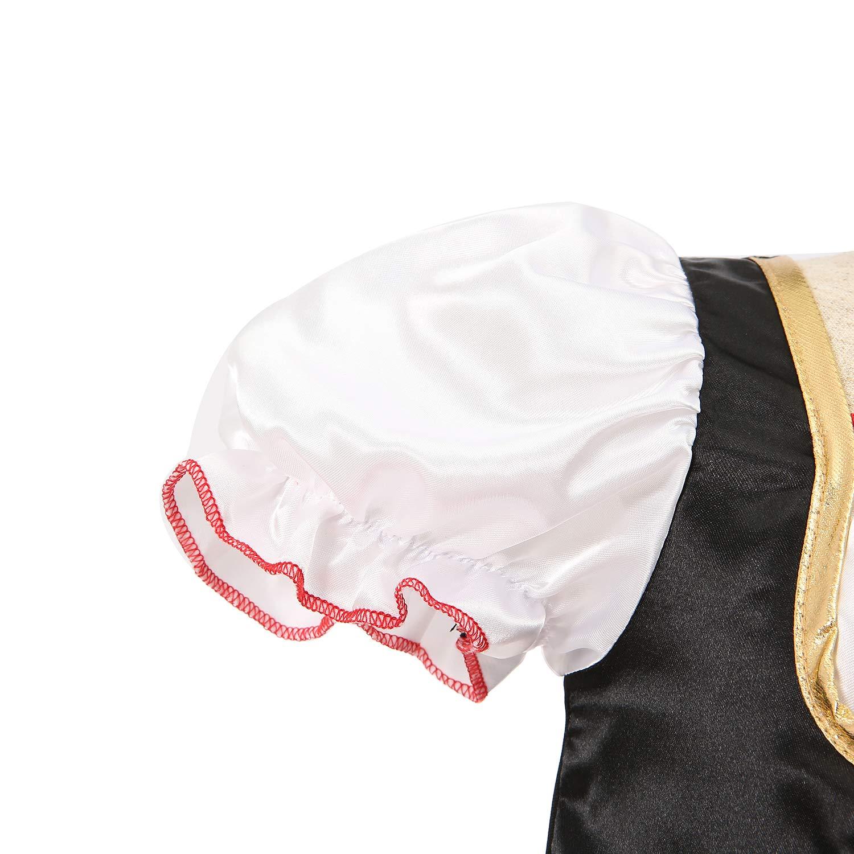 Sincere Party D/éguisement de Pirate pour Fille avec Chapeau de Pirate et Chapeau de Pirate pour Enfants Taille 5-6 9-10 7-8