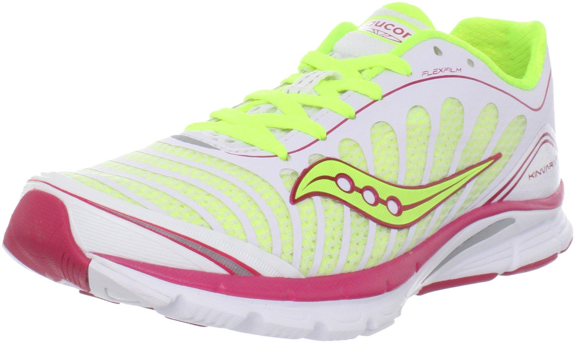6d801a7bd796 Saucony Women s Progrid Kinvara 3 Running Shoe White Citron Pink 9.5 ...