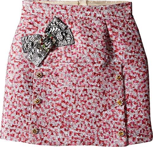 Dolce & Gabbana Kids Girl's Pink Jacquard Skirt (Big Kids) Jacquard Skirt by Dolce & Gabbana