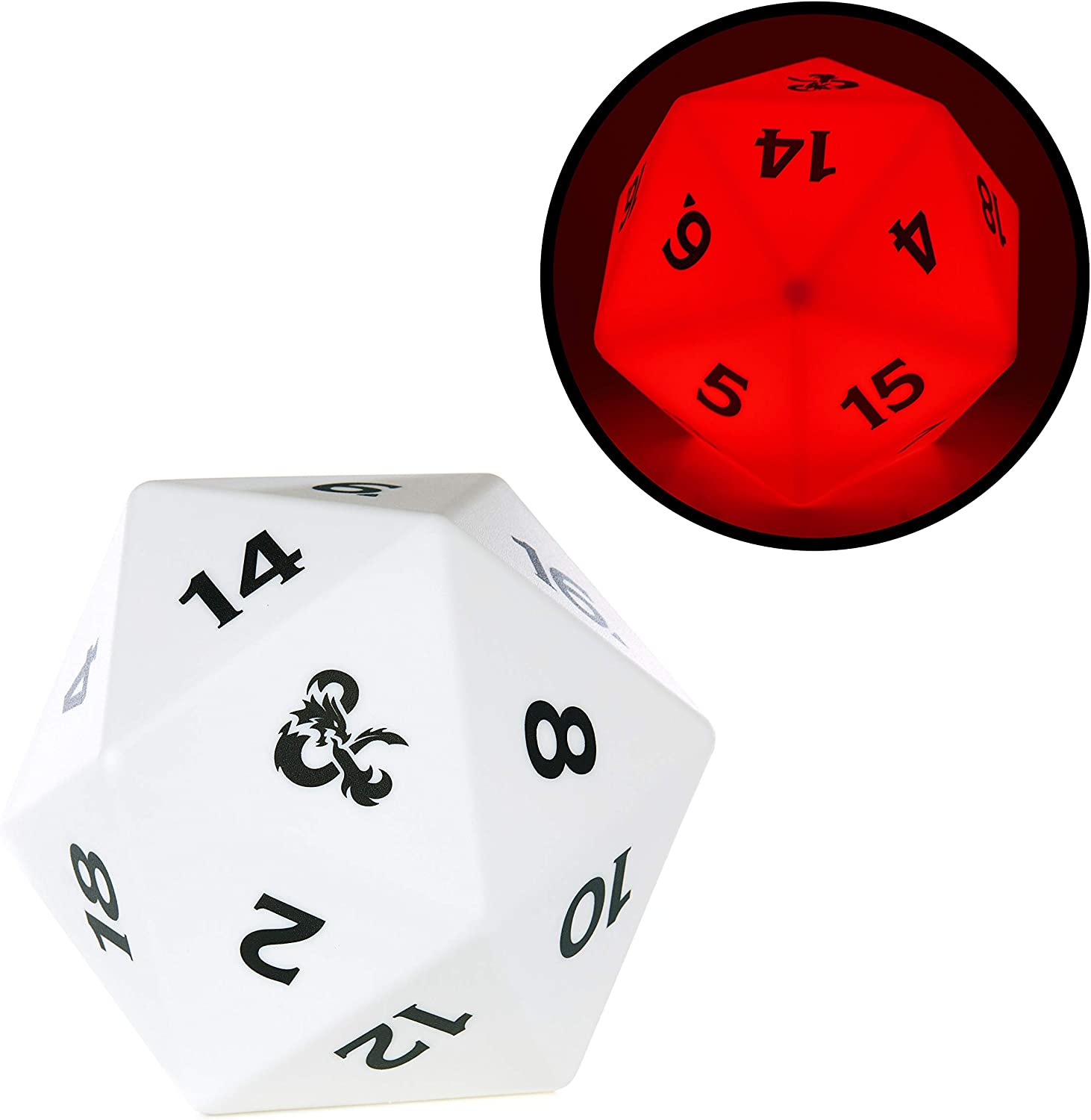 Dungeons and Dragons D20 Color Changing Light - Officially Licensed Wizards of The Coast Merchandise