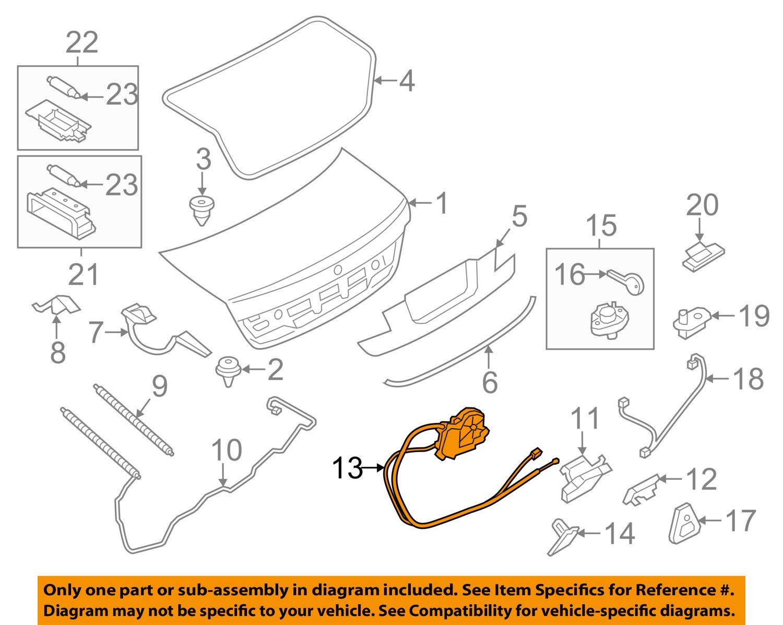 BMW 51-24-7-191-213 Trunk Lid Power Lock Drive