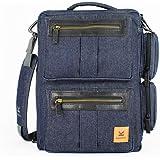 Sac ordinateur portable KASTEL bags modèle Blue DONJON (denim). Innovant, Design et Astucieux.