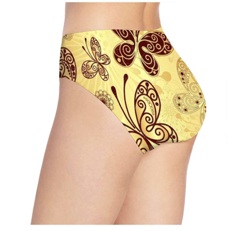 Womens Hipster Panties Seamless Low-Rise Beach Wave Panty Soft Stretch Bikini Underwear