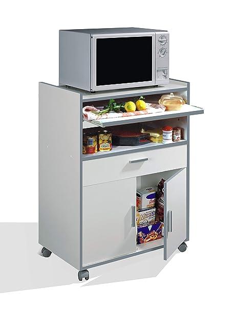 Habitdesign 009910O - Mueble auxiliar mesa cocina con un cajón y ...