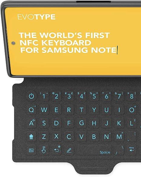 tech21 EVO Type - Funda con Teclado NFC Integrado para Samsung Galaxy Note10, Color Negro