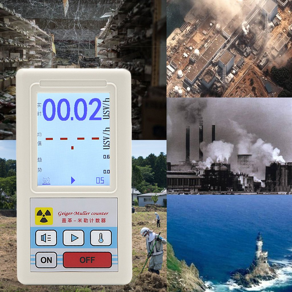 Qisuw Nuclear Radiation Detector Dosimeters Marble Tester Counter With Screen Display