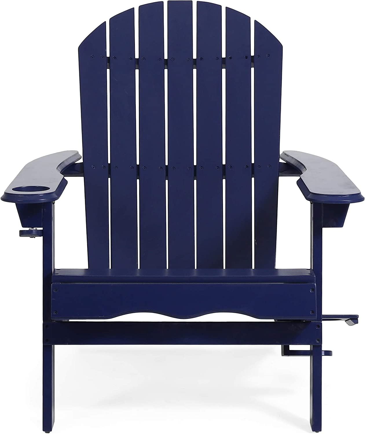 Christopher Knight Home 312847 Edmund Outdoor Acacia Wood Folding Adirondack Chair, Navy Blue