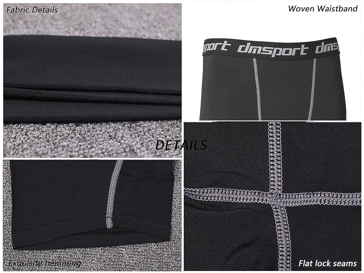 KUQIURW Mens Compression Shorts Cool Dry Sports Tights Pants Athletic Baselayer Running Legging Men