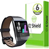 Fitbit Ionic Screen Protector (6-Pack) IQ Shield LiquidSkin Full Coverage Screen Protector for Fitbit Ionic Smartwatch HD Clear Easy Install Anti-Bubble Film