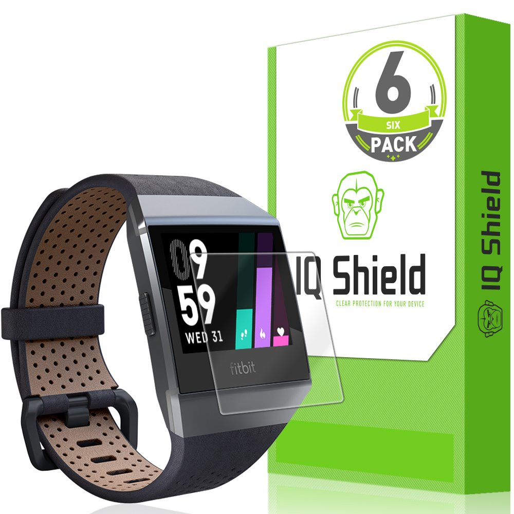 Fitbit Ionic Screen Protector (6-Pack), IQ Shield LiquidSkin Full Coverage Screen Protector for Fitbit Ionic Smartwatch HD Clear, Easy Install, Anti-Bubble Film