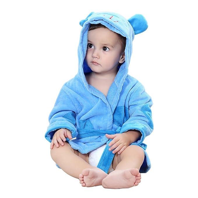 Auspicious beginning Albornoz con capucha suave estilo animal de la toalla de algodón para bebés, 0-24 meses: Amazon.es: Ropa y accesorios
