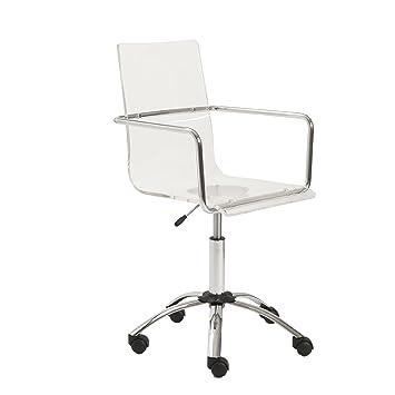 Amazoncom Euro Style Chloe Clear Acrylic Adjustable Office Chair