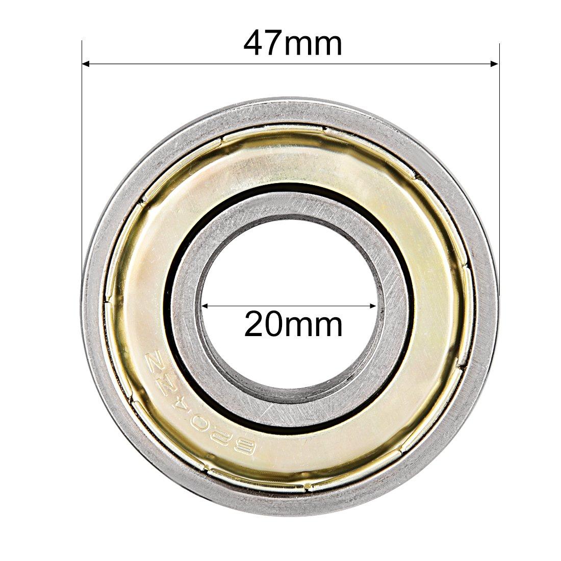 Rillenkugellager 6200RS doppelt versiegelt 10mmx30mmx9mm Kohlenstoffstahl de sourcing map 8Stk