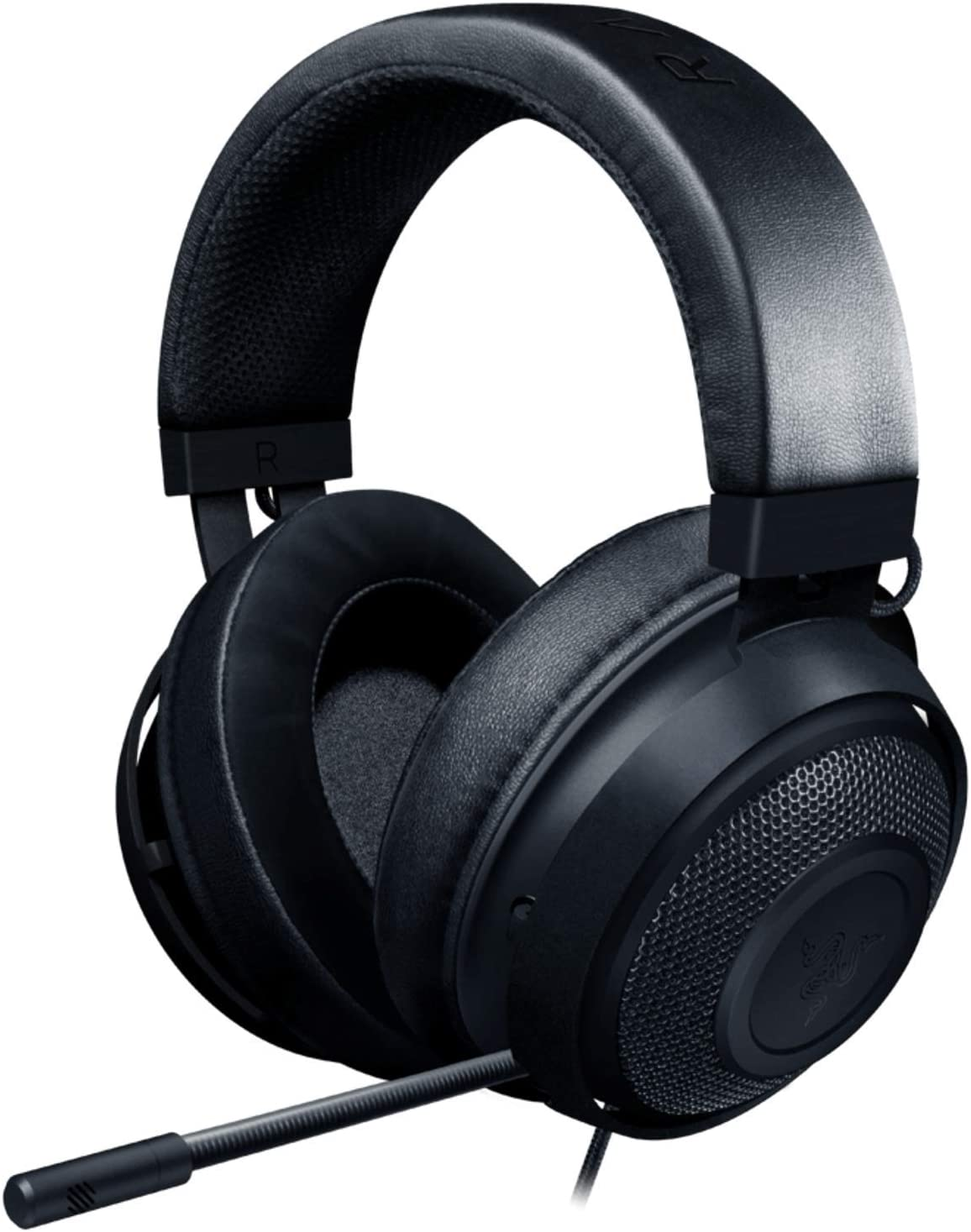 Razer Kraken Gaming Headset: Lightweight Aluminum Frame - Retractable Cardioid Mic - For PC, PS4, Nintendo Switch - 3.5 mm Headphone Jack - Black