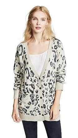 Amazon.com  Pam   Gela Women s Leopard Print Destroyed Cardigan ... b739369c2