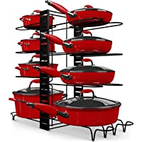 Storlux Adjustable 8+ Cookware Pot Rack Organizer