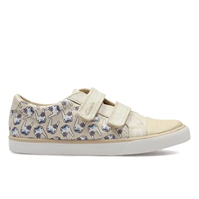 Clarks Gracie PIP INF Cotton Kids Trainers 8