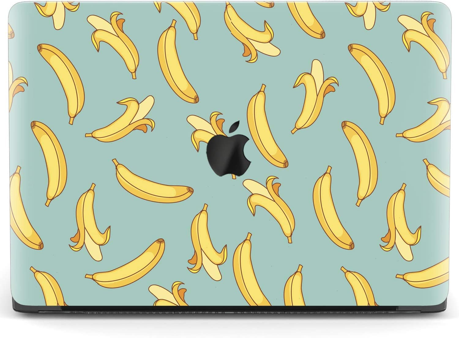 Mertak Hard Case Compatible with MacBook Pro 16 Air 13 inch Mac 15 Retina 12 11 2020 2019 2018 2017 Bananas Touch Bar Teal Yellow Summer Clear Cartoon Fruits Funny Laptop Cover Protective Print