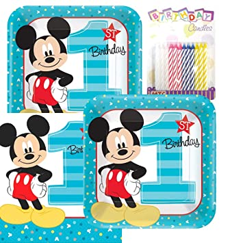 Amazon.com: Mickey Mouse Fun to be one 1st fiesta cumpleaños ...