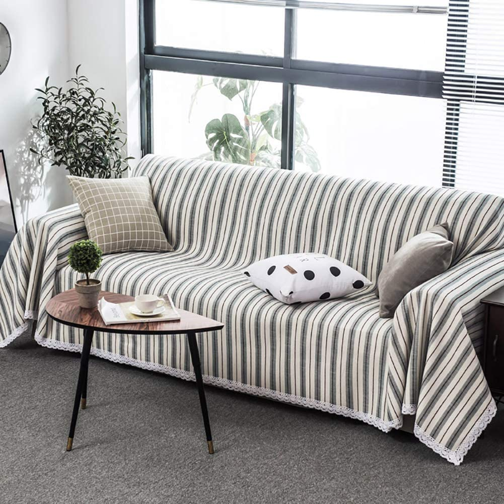 TSSCY Sofa Throws Thicken, Sofa Covers Stripe Sofa slipcovers Couch Covers Sofa Protector Furniture Protector-J 180x260cm/71x102inch
