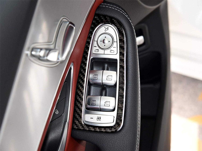 hors Carbon Fiber Armrest Door Handle Window Lift Switch Button Frame Decal Cover Trim for Mercedes Benz C Class C180 C200 C220 C250 W205 GLC-Class X253//C253 2014-present BZ03 German Flag