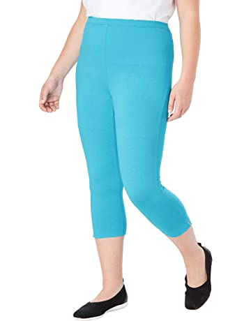 72c1dfdc9 Woman Within Women's Plus Size Stretch Cotton Capri Legging
