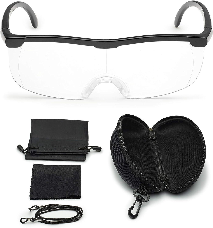 Vergrößerungsbrille Lupenbrille Zauberbrille Lupe Auf Der Nase Optische Vergrößerung Auf 200 Inkl Hardcase Und Zubehör Schwarz Bürobedarf Schreibwaren