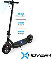 Hover-1 Alpha Electric Kick Scooter Foldable and Portable with 10 inch Air-Filled Tires- Long Range Commuter Scooter 450W Mot