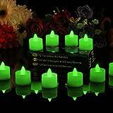 PK Green - set de 12 Velas a batería con luz LED, color verde
