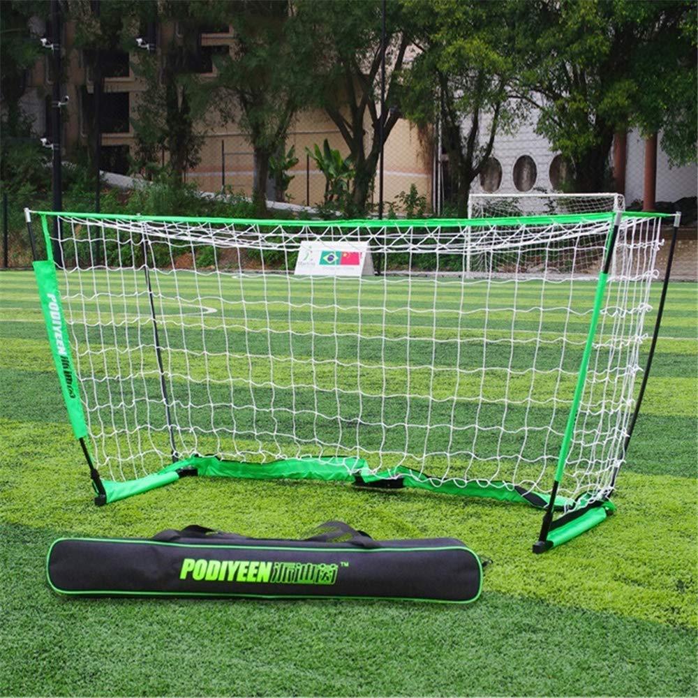 BLNET MINI Rete di calcio Semplice rimovibile Per bambini e adolescenti 5 persone 150CM,verde
