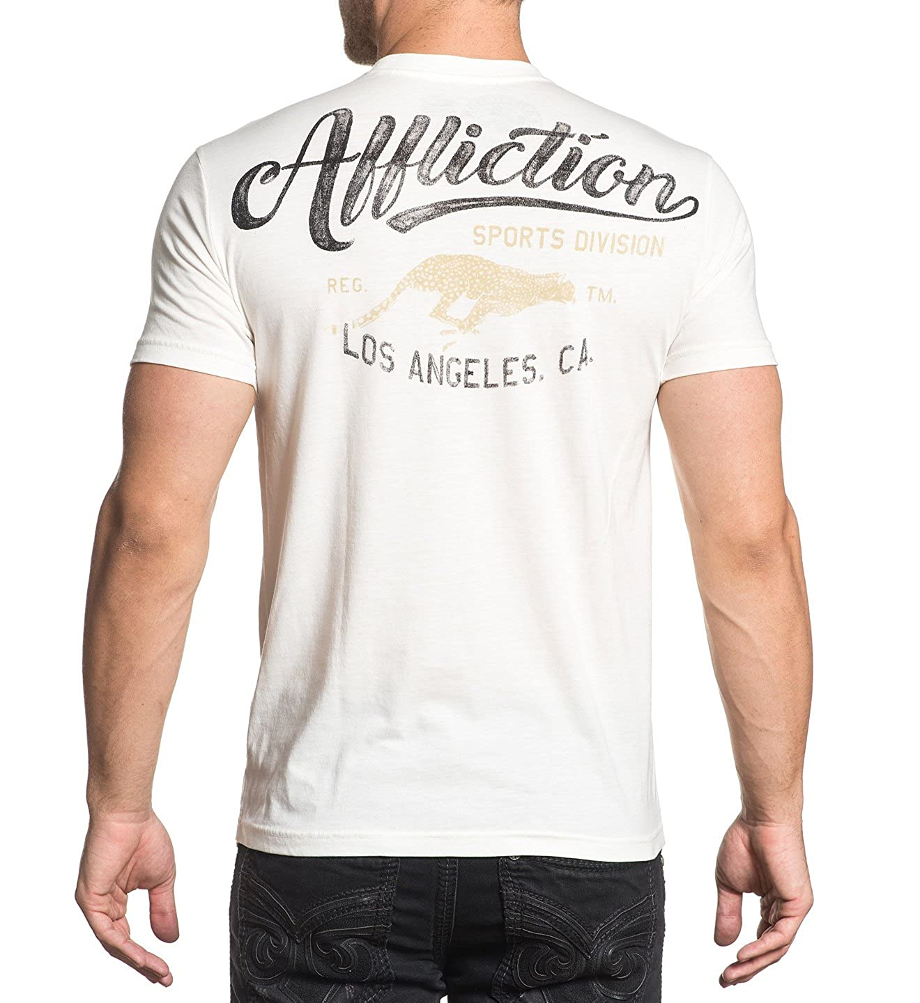 Affliction AS18458 Triumph Short Sleeve Tee in Vintage White