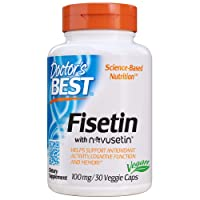 Doctor's Best Fisetin with Novusetin, Non-GMO, Vegan, Gluten Free, Soy Free, 100 mg, 30 Veggie Caps (DRB-00227)